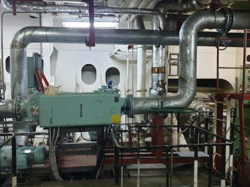 Containership scrubber and BWTS retrofit